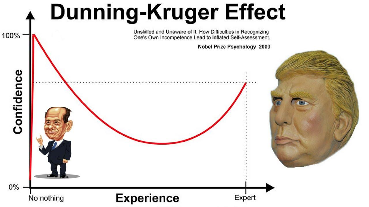 Efectul Dunning Kruger, Curba lui Gauss