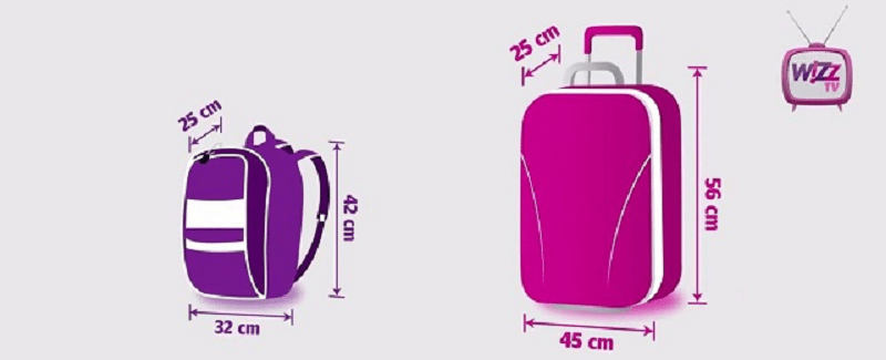 dimensiuni bagaj de mana wizzair