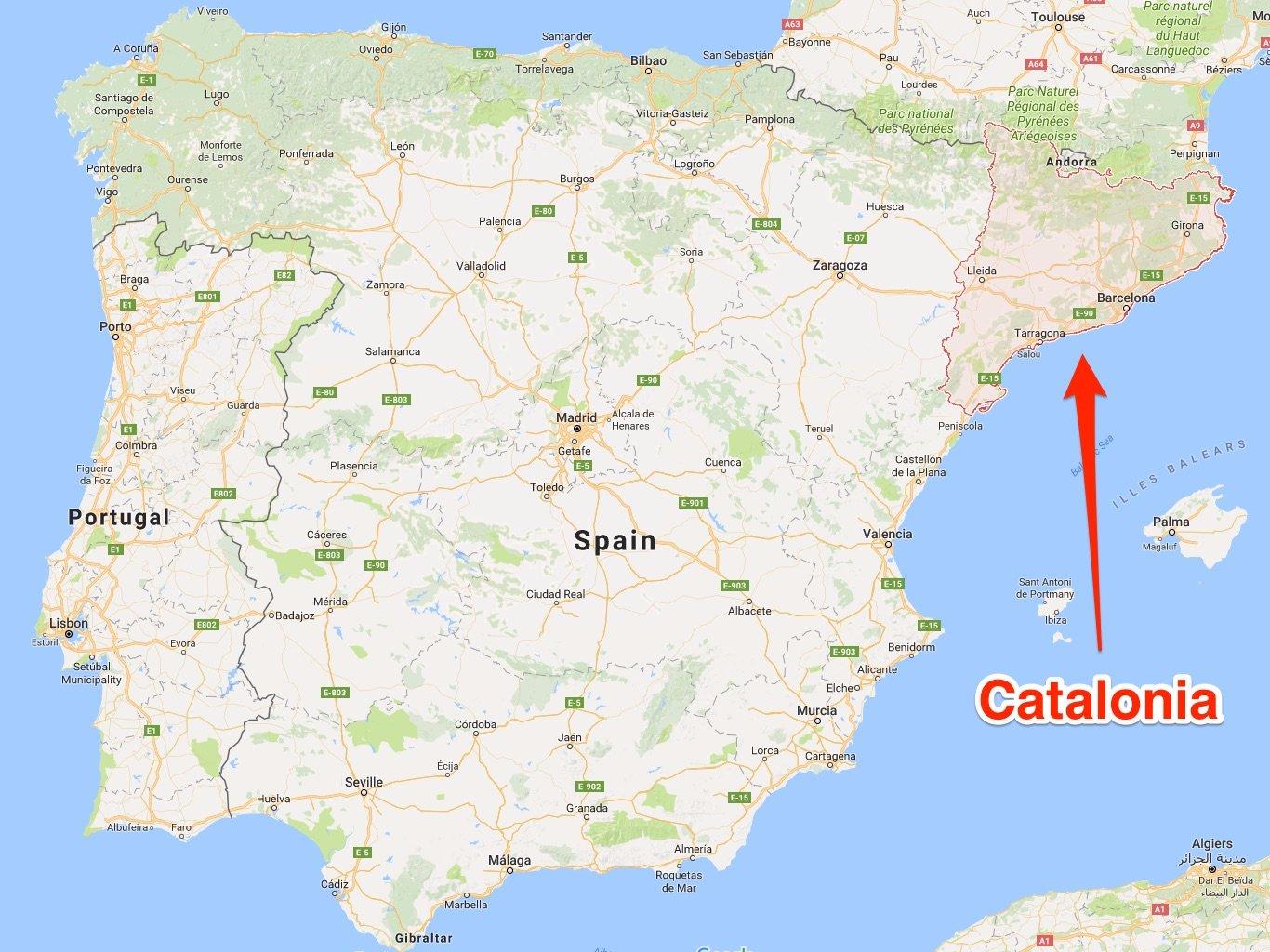 Catalonia, harta