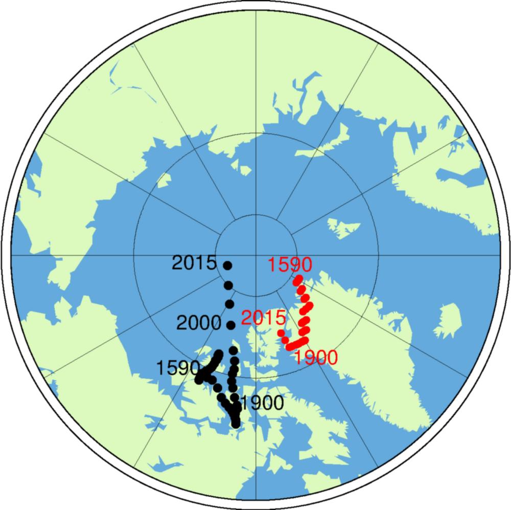Deplasarea Polului magnetic