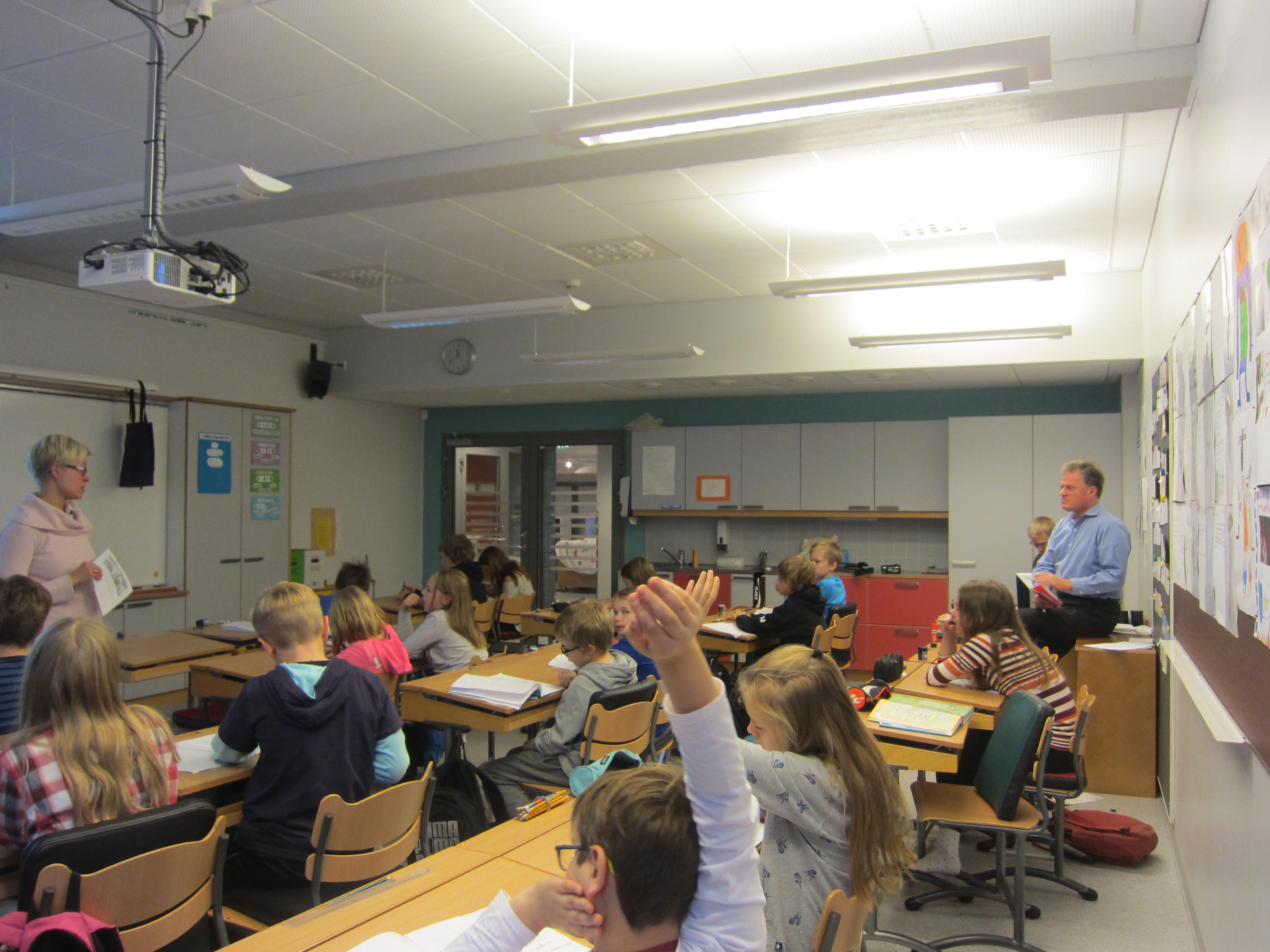 Sala de clasa intr-o scoala din Finlanda