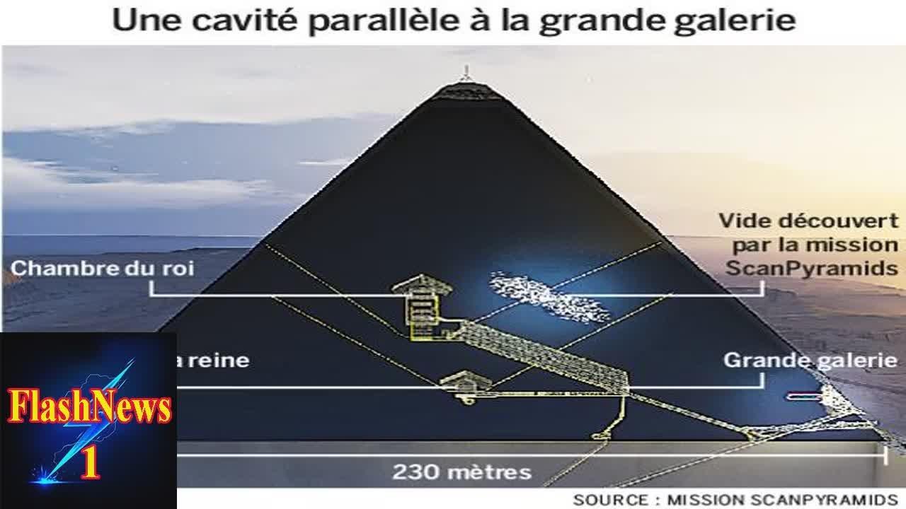 O cavitate în piramida lui Keops