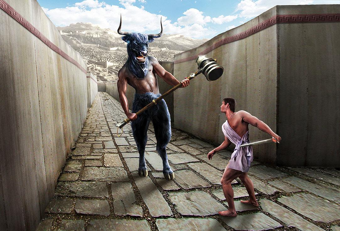 Firul Ariadnei, Tezeu si Minotaurul