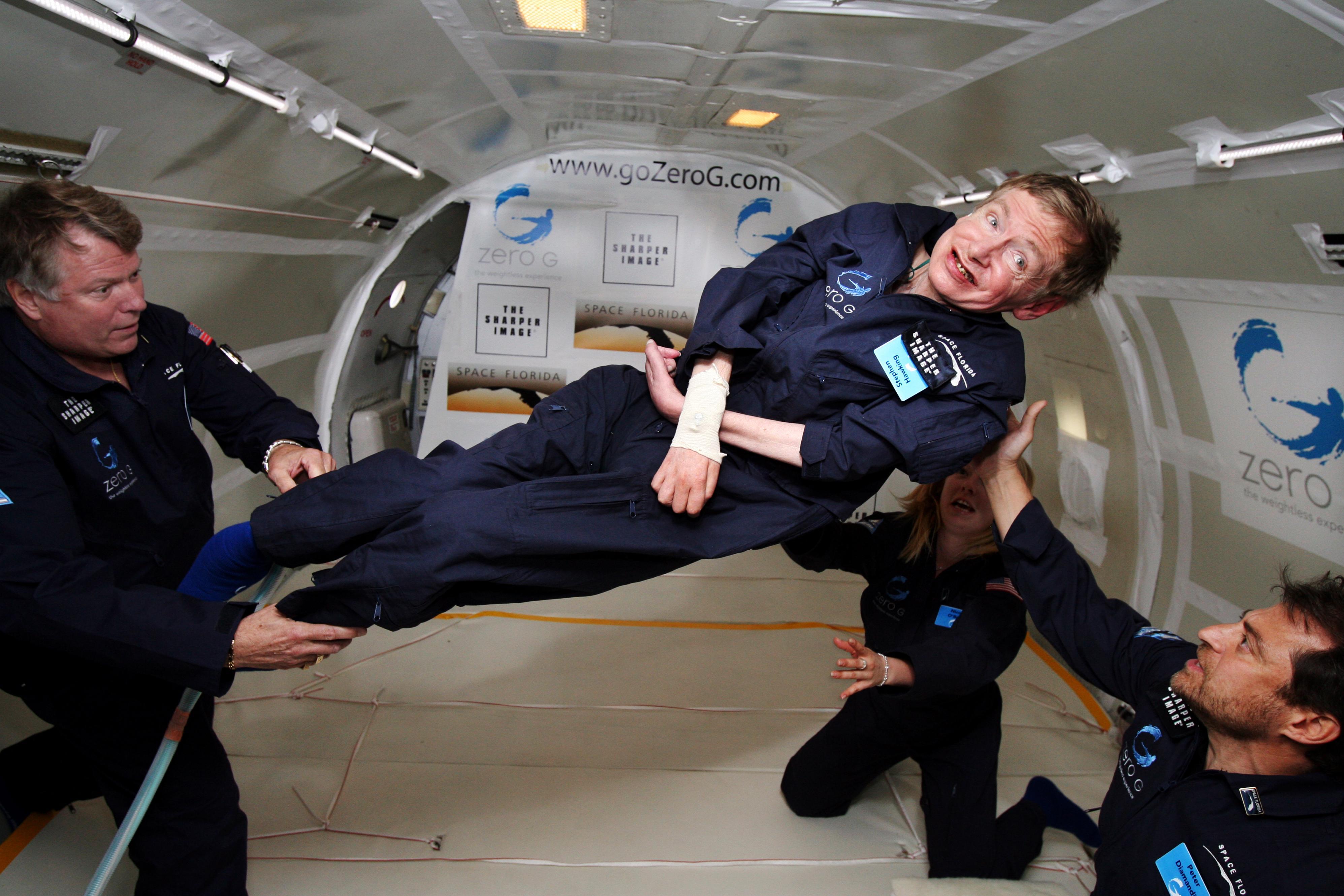 Stephen Hawking, zbor gravitatie zero