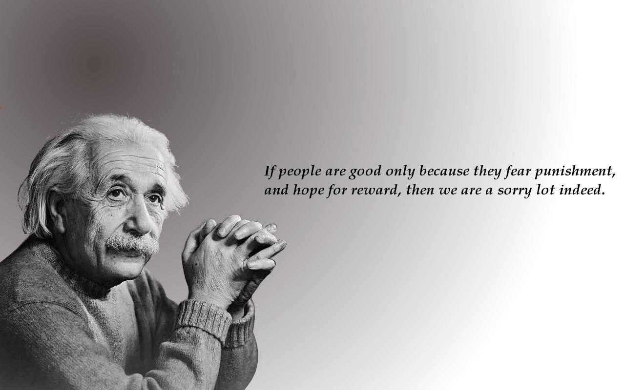 Albert Einstein despre frica