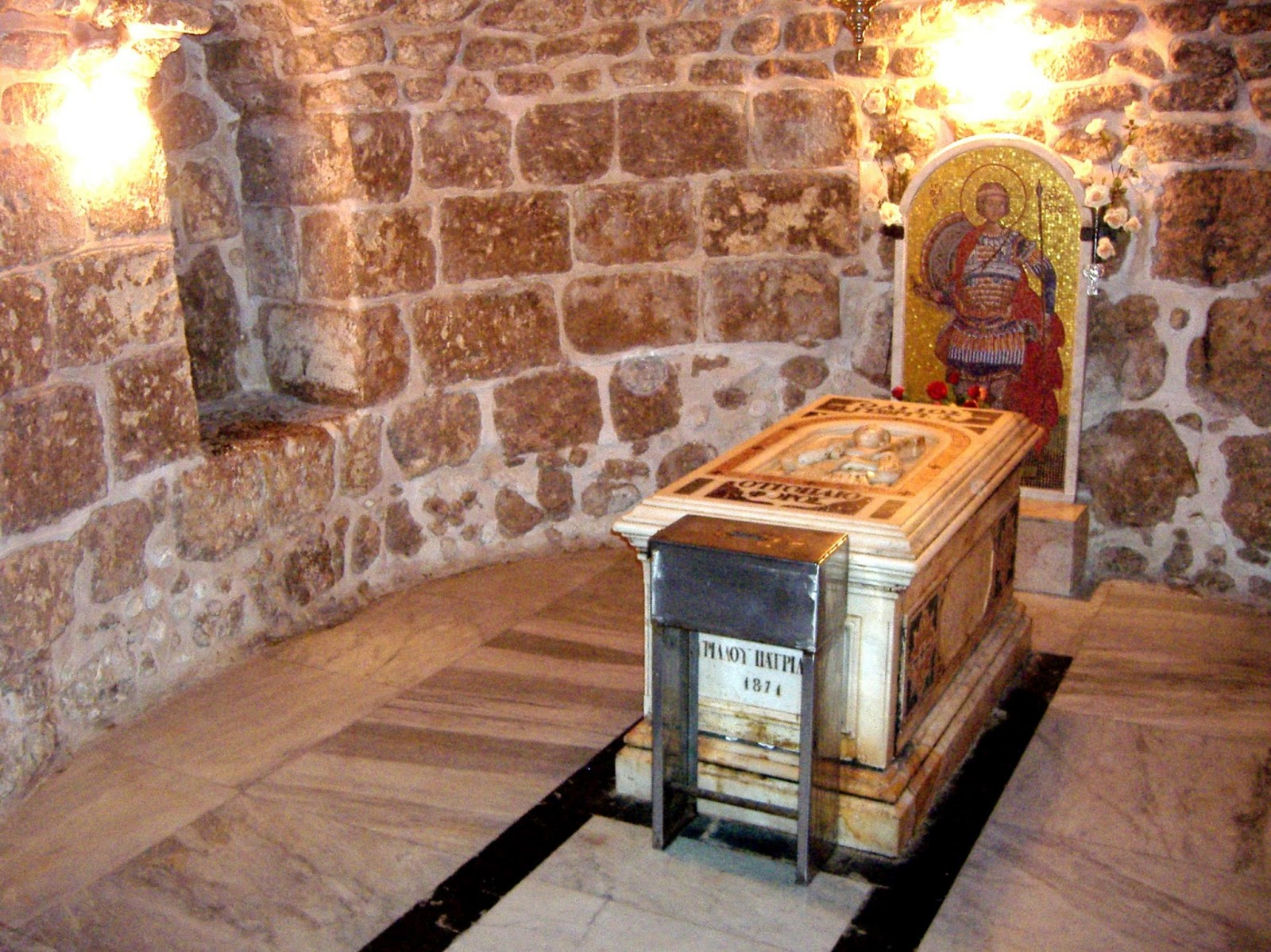 Mormântul si biserica Sfântul Gheorghe, din Lod