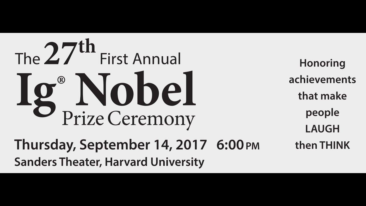 Premiile Ig Nobel 2017, Harvard