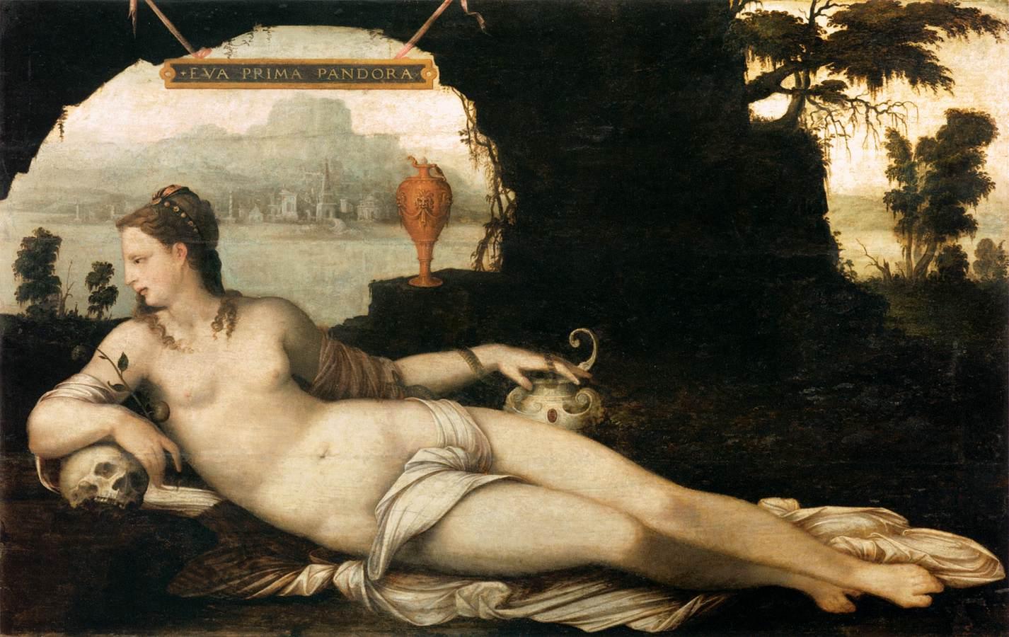 Pandora, pictura de Jean Cousin