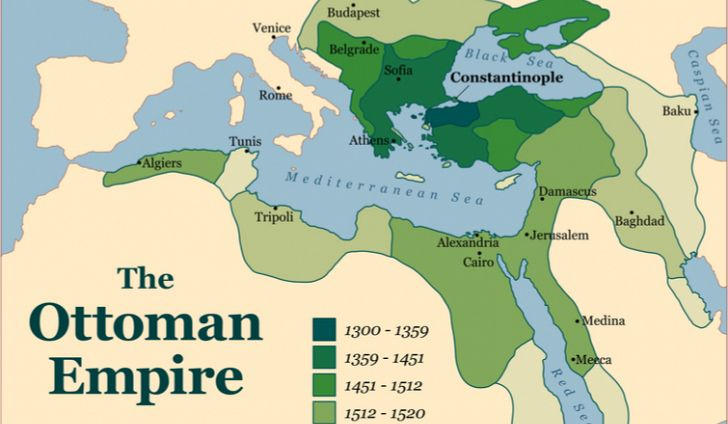 Balcanismul, Harta Imperiului Otoman