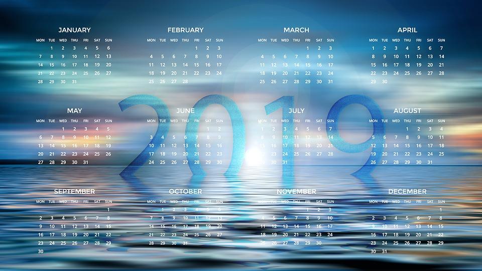 Anul 2019 din perspectiva astronomică şi astrologică, calendar 2019