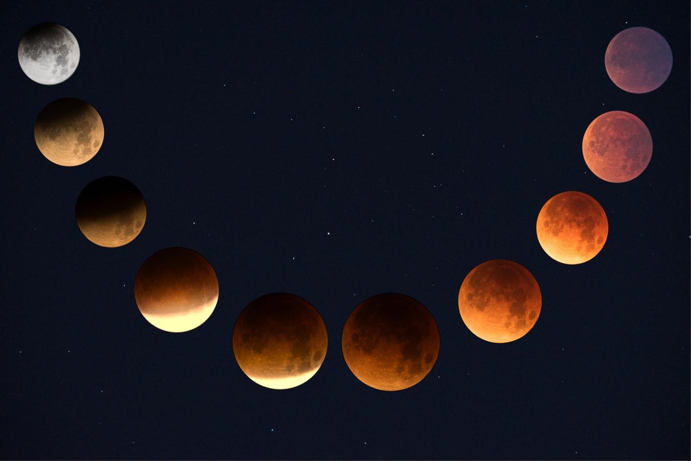 Super Luna sângerie sau Luna Lupului