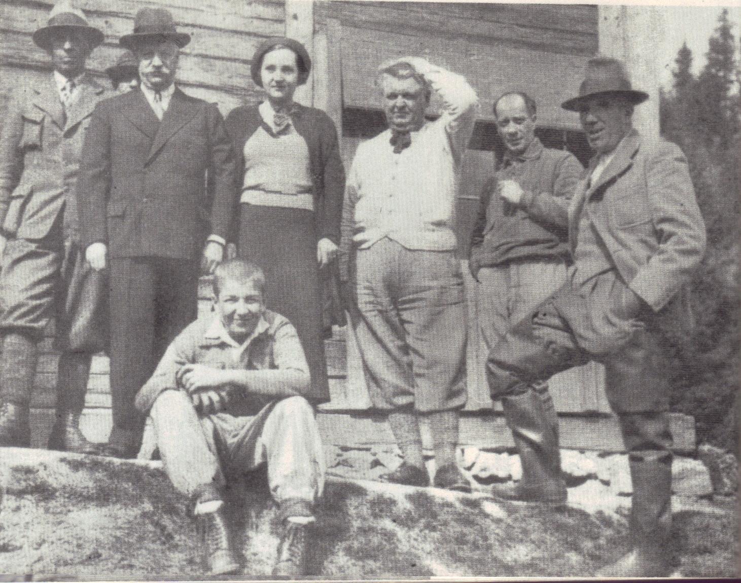 Mihail Sadoveanu pe Valea Frumoasei
