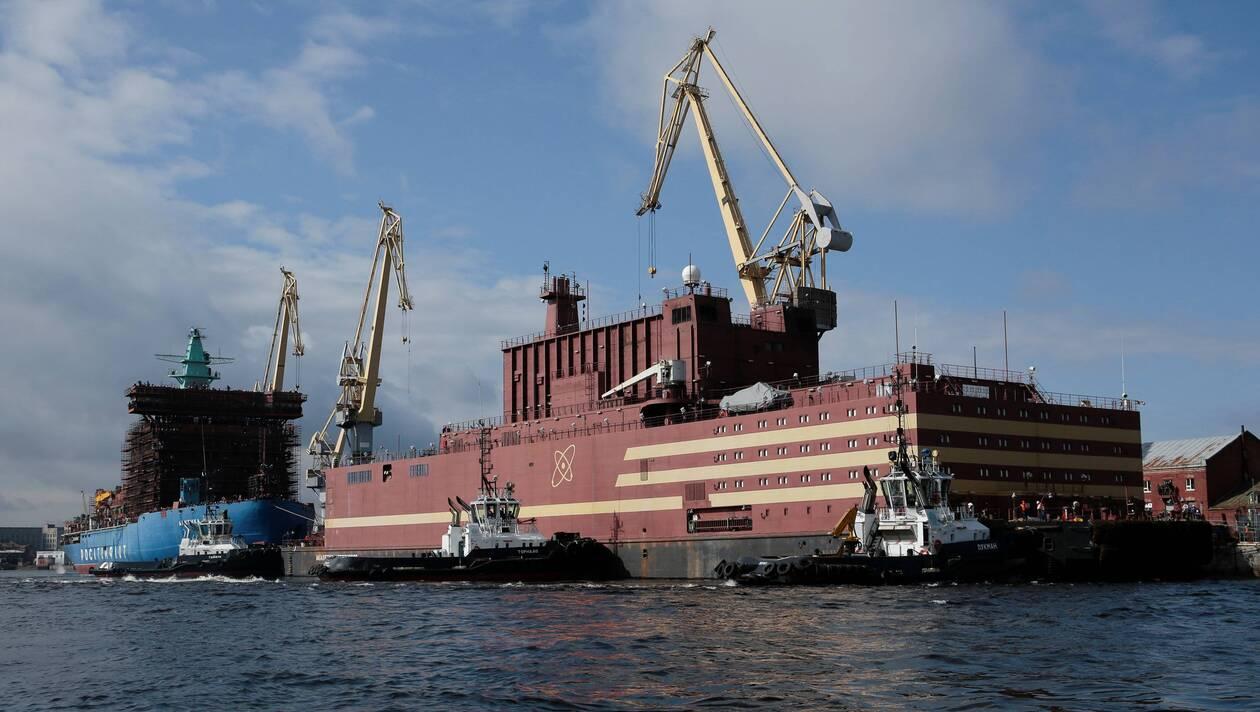 Harta centralelor nucleare din lume, Prima centrală nucleară plutitoare din lume, Sursa: ouest-france
