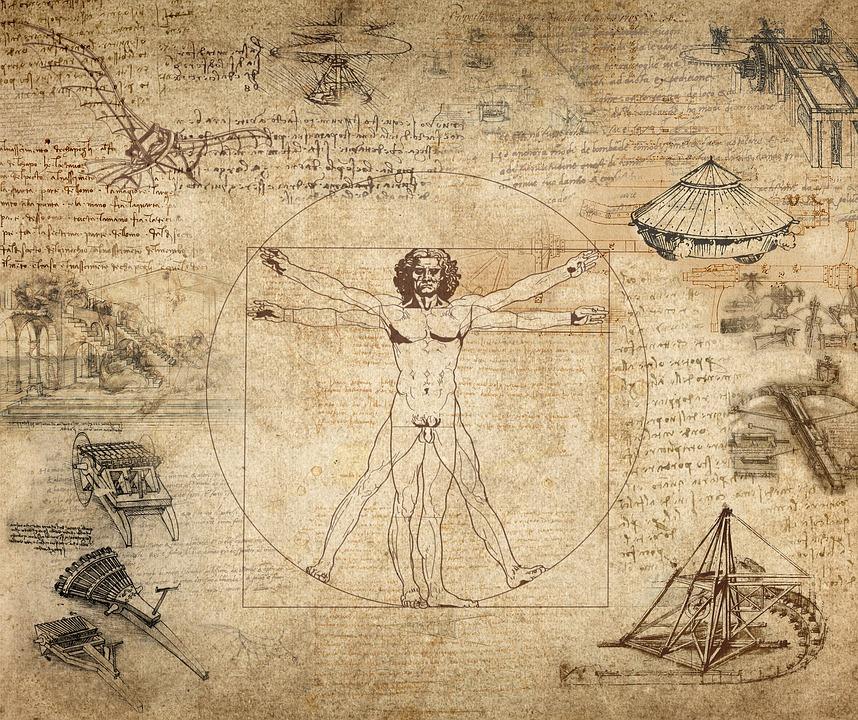 Omul vitruvian si Secţiunea de aur, Leonardo da Vinci