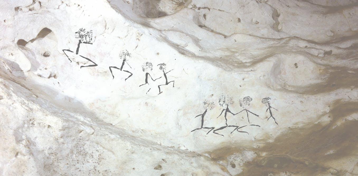 Pestera Borneo, desene rupestre, Sursa: The Conversation