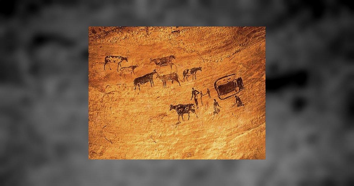 desene rupestre, Coliboaia, Sursa: Bzi