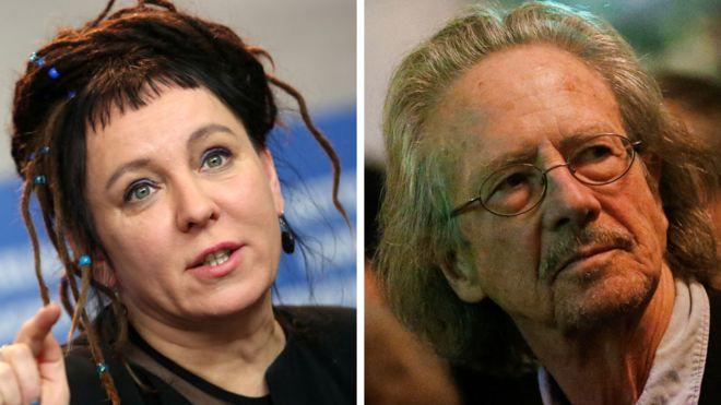 Premiul Nobel pentru Literatură 2019 şi 2018, Sursa: BBC