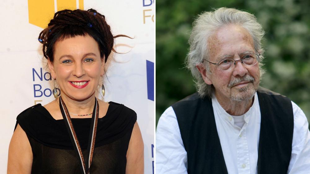 Premiul Nobel pentru Literatură 2019 şi 2018, Peter Handke şi Olga Tokarczuk, Sursa: Variety.com