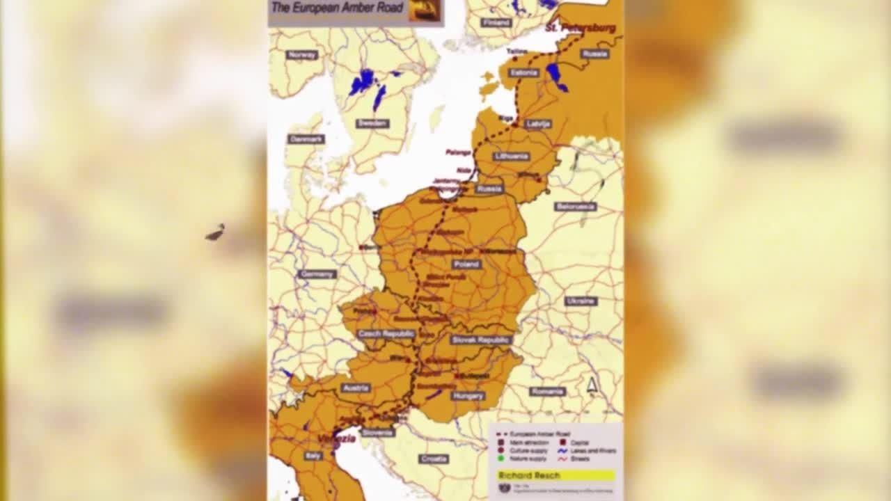 Drumul chihlimbarului, harta
