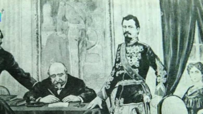 Alexandru Ioan Cuza si Mihail Kogalniceanu