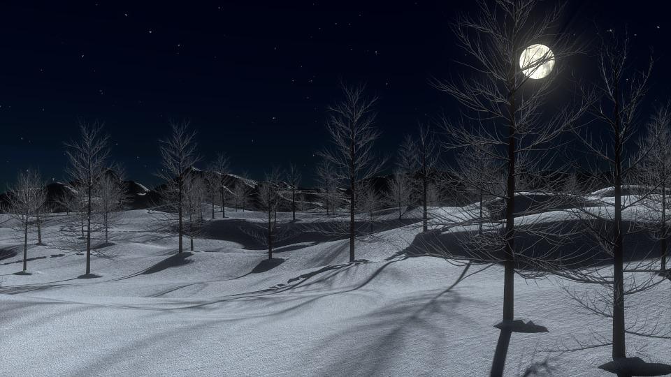 Luna ianuarie, Luna plina