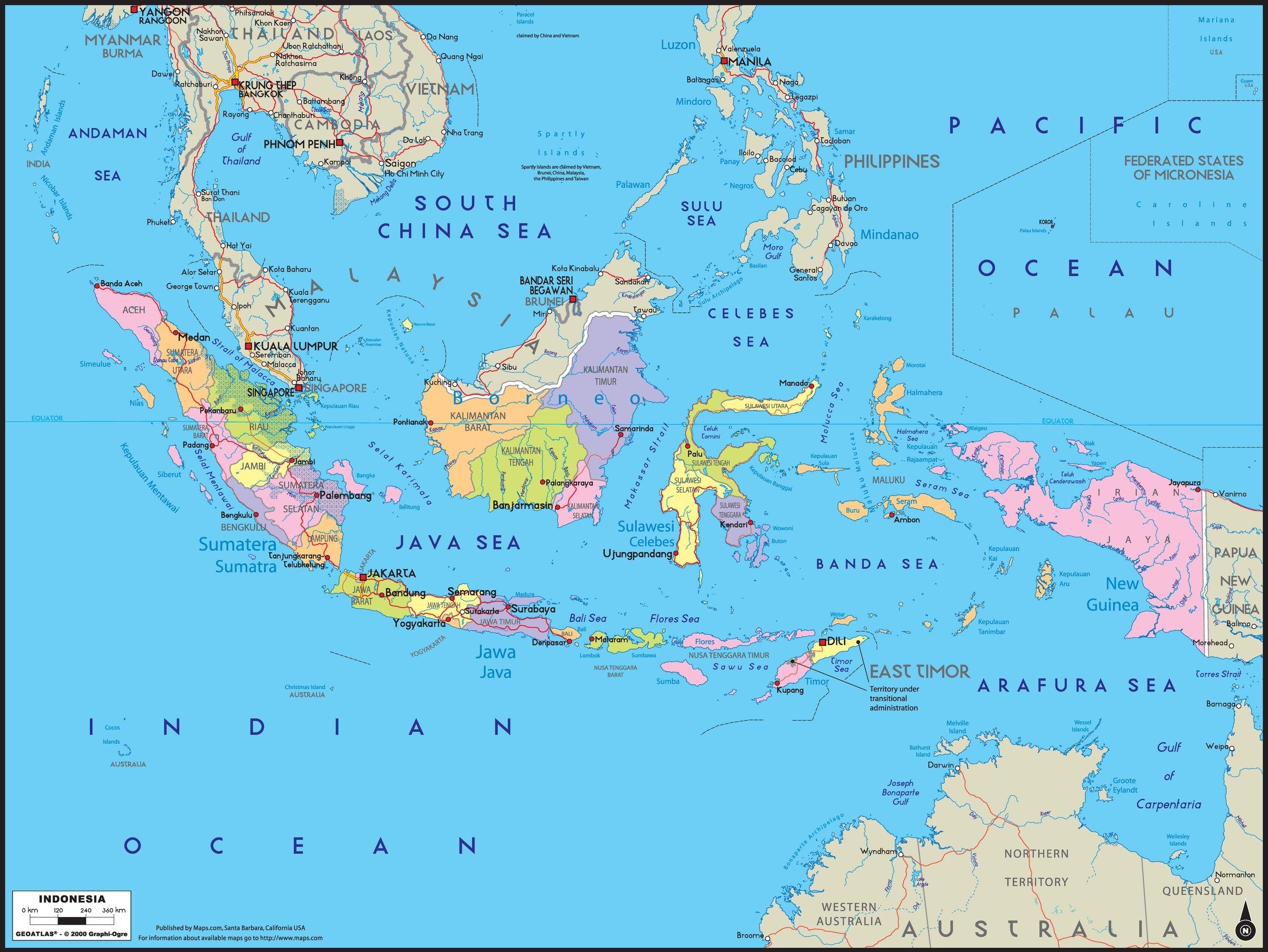 Cel mai puternic zgomot auzit vreodată pe Terra, Arhipelagul Indonezian