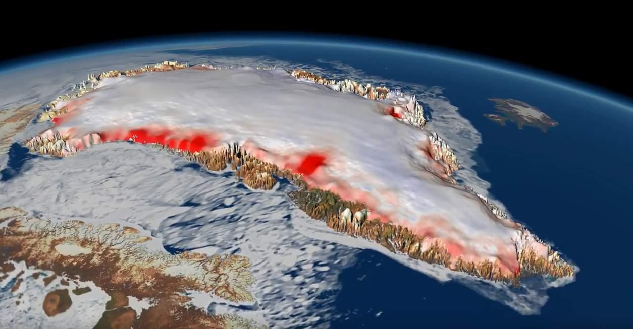 Groenlanda, Sursa NASA