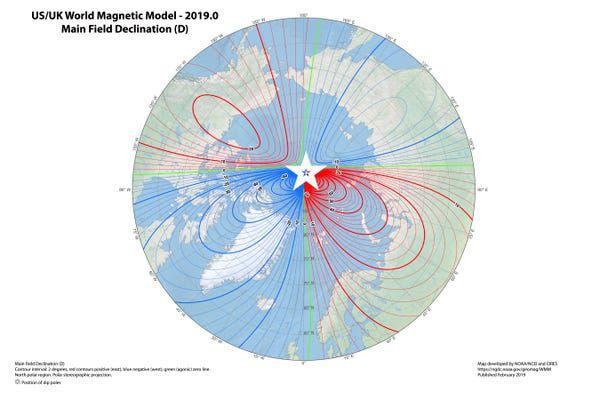 Campul magnetic al Pamantului, Sursa: British Geological Survey