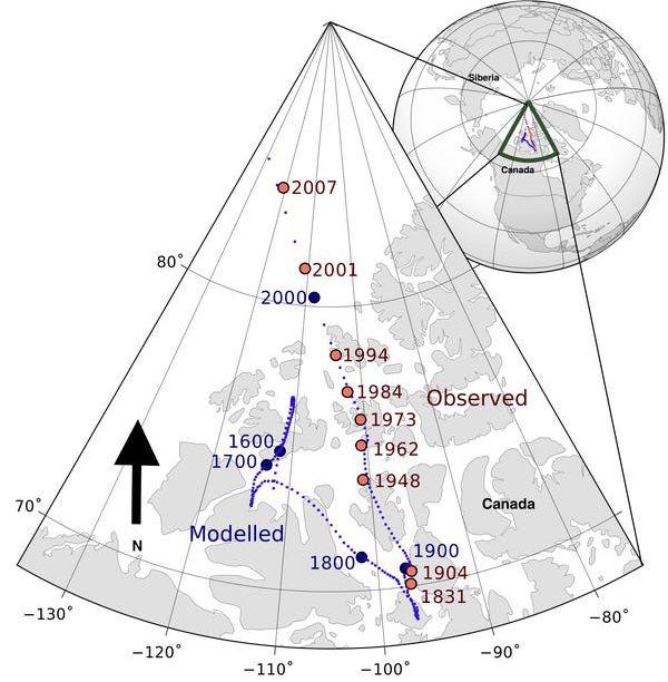 Deplasarea Polului Nord magnetic