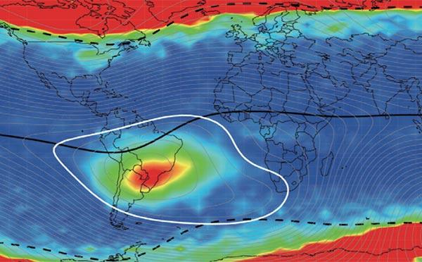 Anomalia Atlanticului de Sud, South Atlantic Anomaly, Sursa Skeptoid Podcast