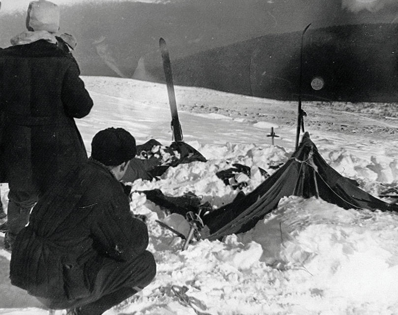Istorii ciudate, Incidentul Diatlov, cortul in care erau adapostiti cei noua schiori