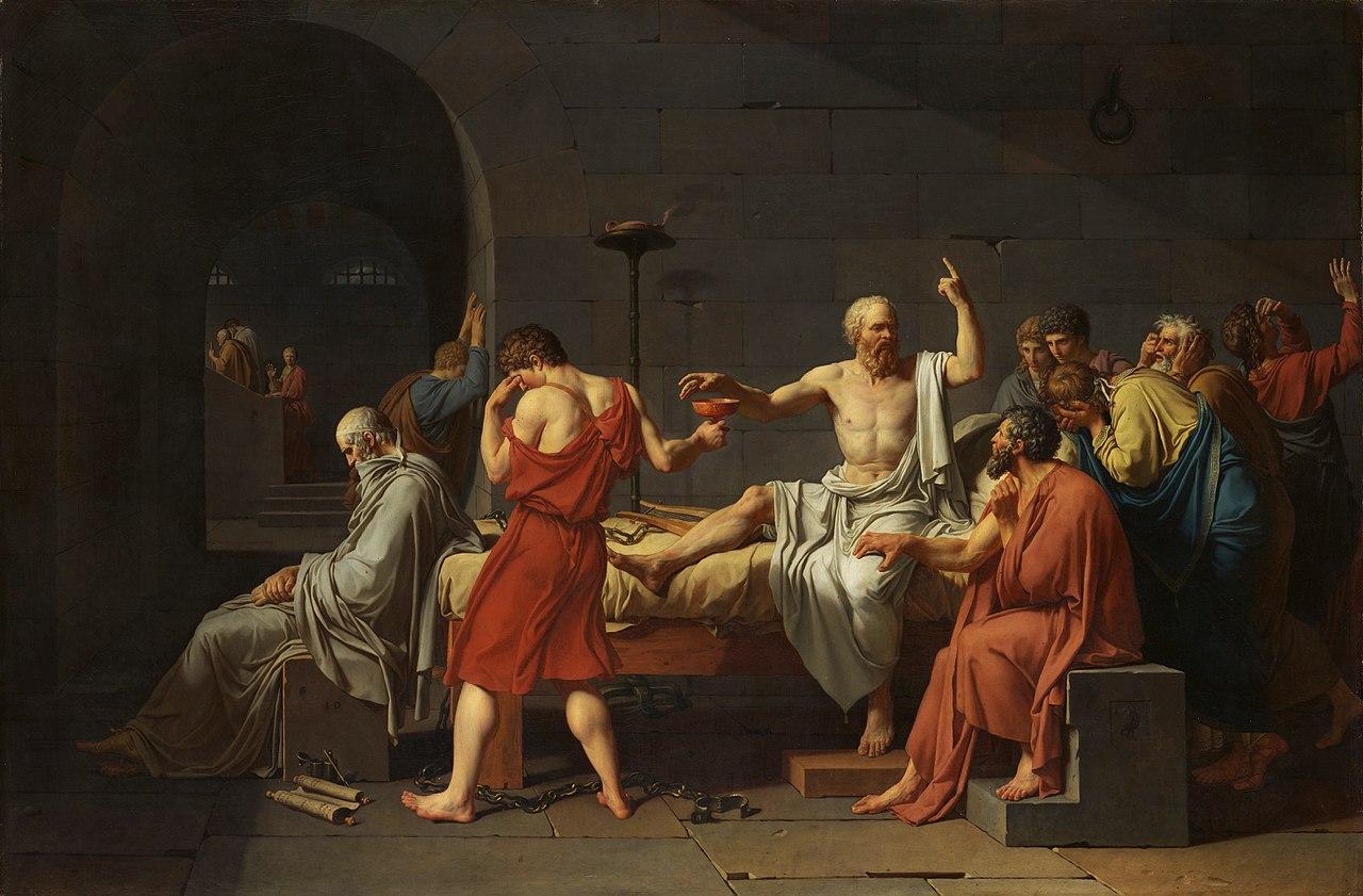 Moartea lui Socrate, pictura de Jacques Louis David