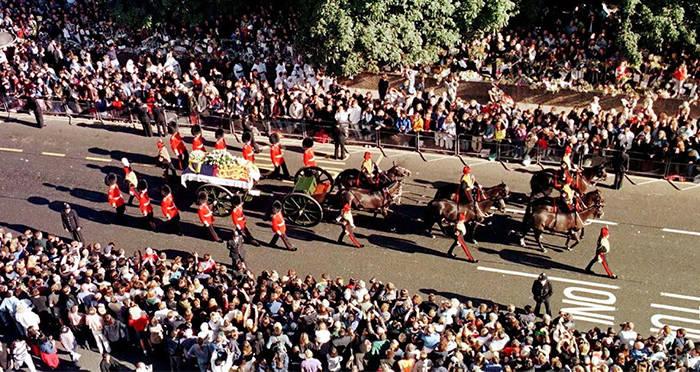 Un moment istoric pentru GCP, ceremoniile funerare ale printesei Diana