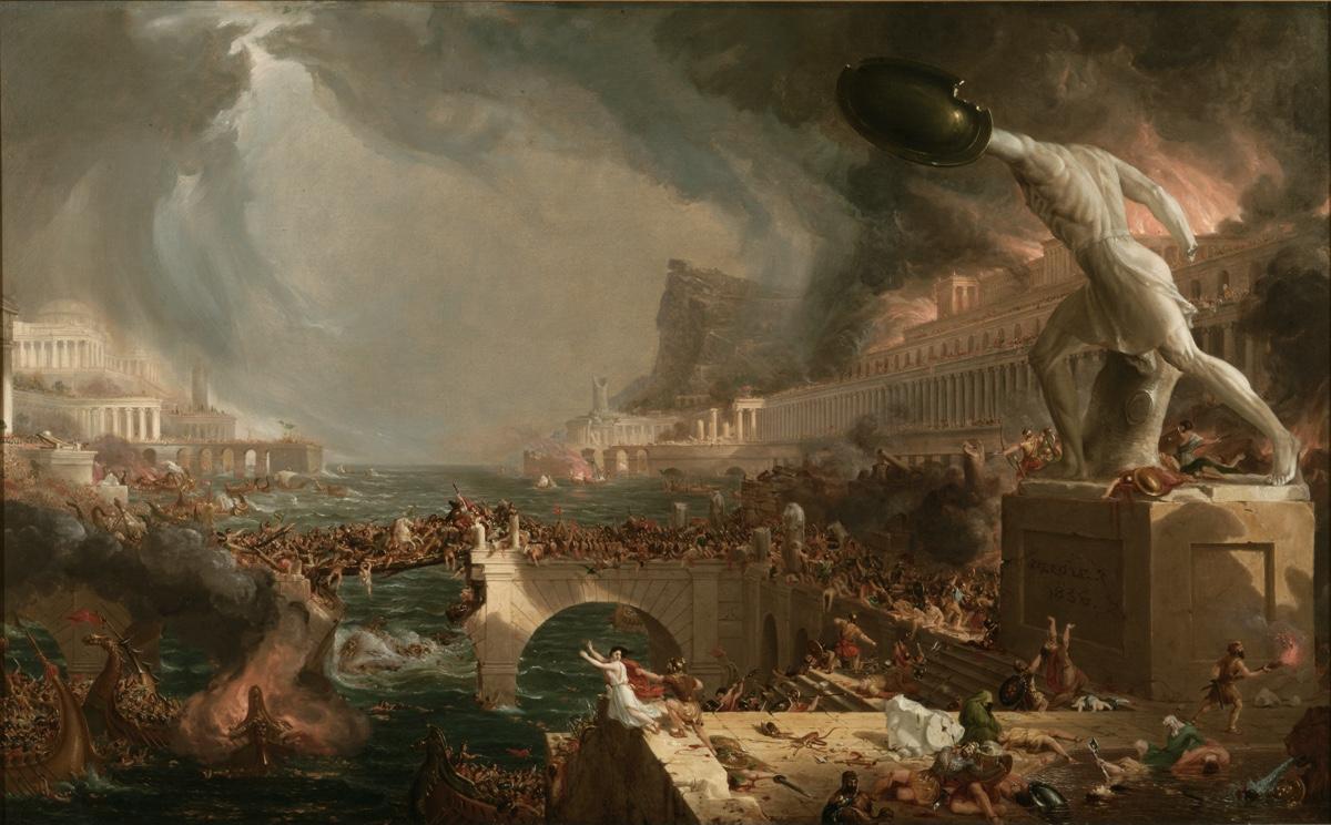Anul 536, pictura Thomas Cole, Sursa Live Science