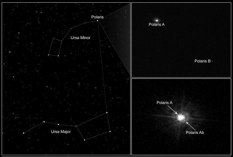 Steaua Polară vazuta de telescopul Hubble