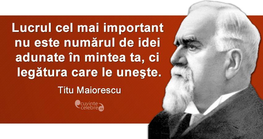 Titu Maiorescu si formele fără fond