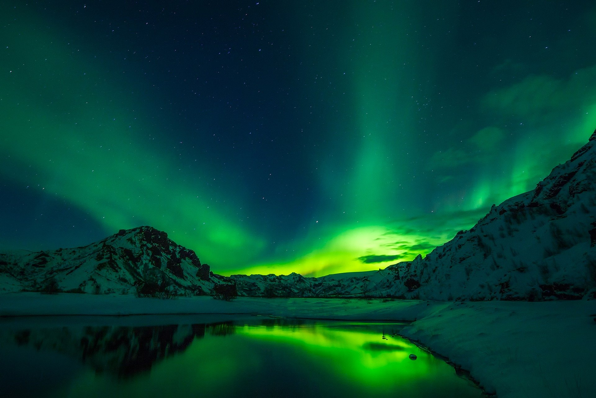 Islanda, aurora boreala