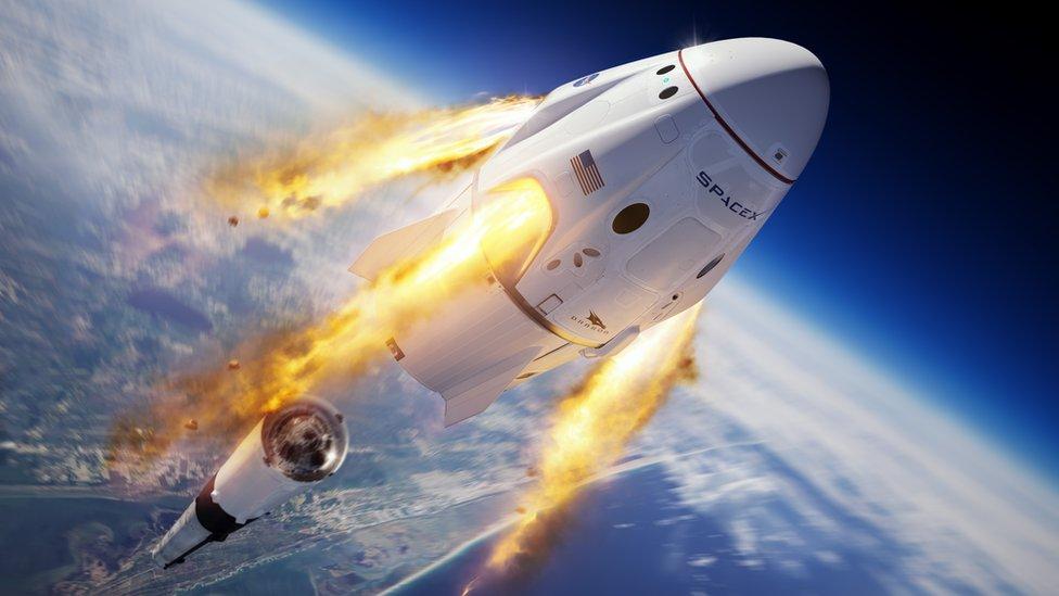 Crew Dragon, Space X - prima companie privată care a trimis oameni în spaţiu