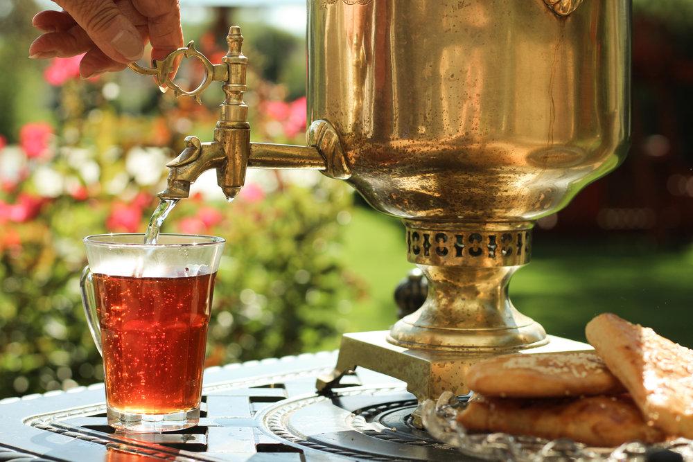 Ritualul ceaiului in Rusia, samovar
