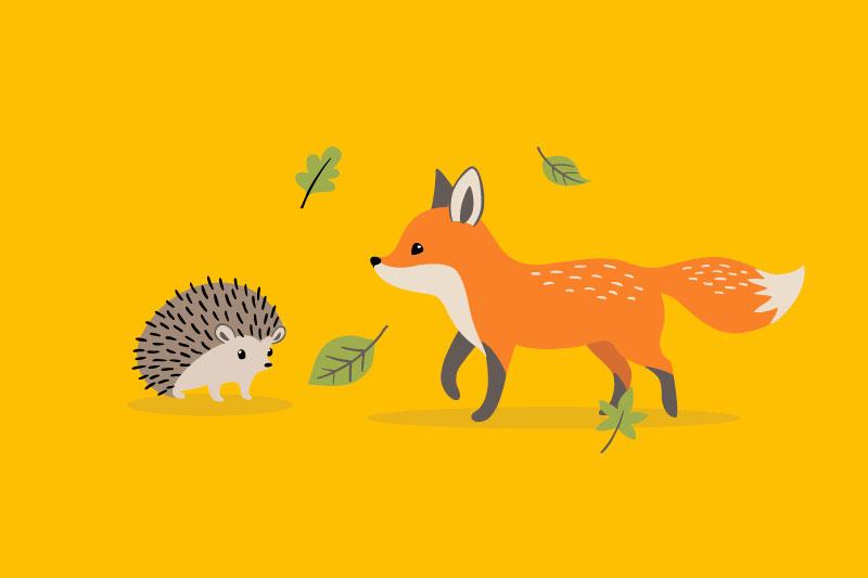 Ariciul şi vulpea