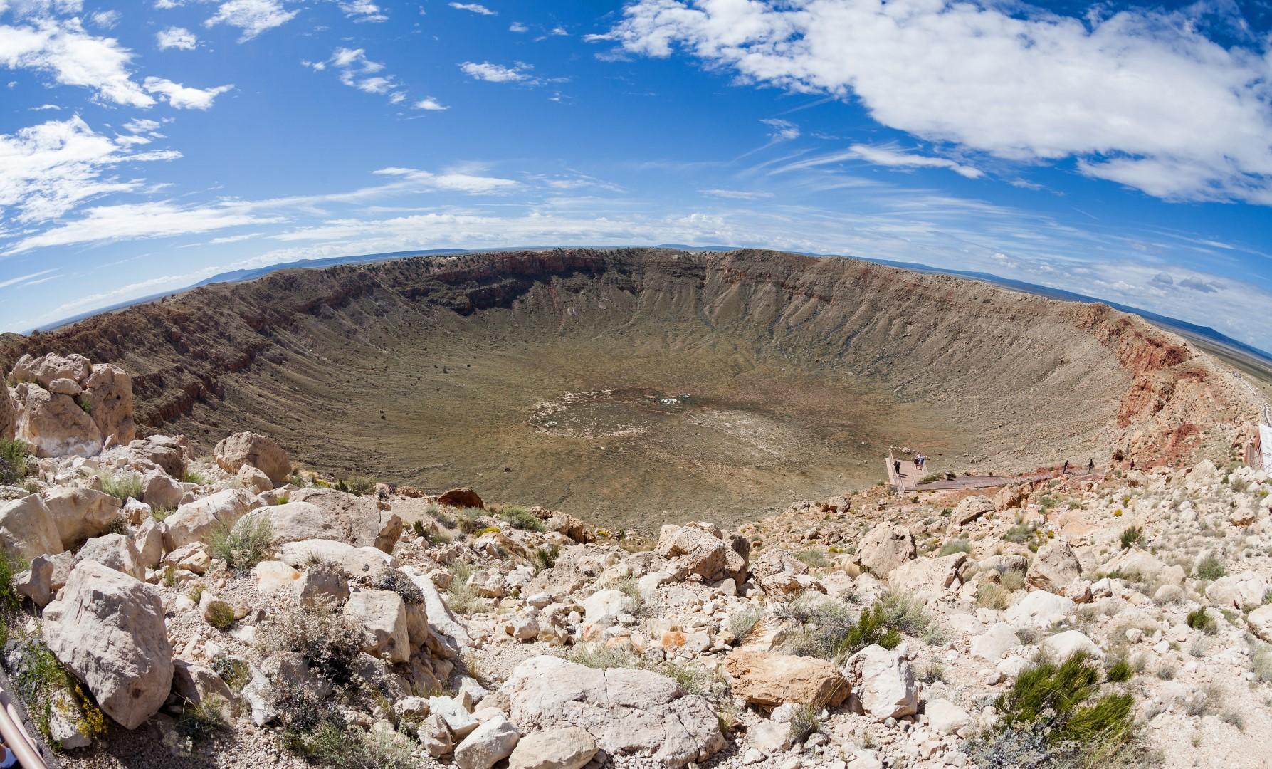 10 descoperiri ciudate făcute cu ajutorul Google Earth, Craterul Meteor