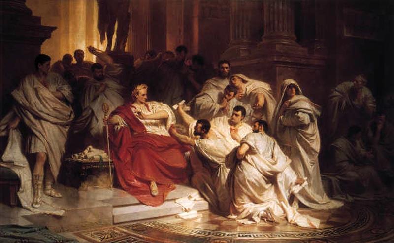 Asasinarea lui Iulius Caesar, Şi tu, Brutus
